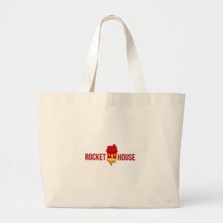 RocketHouse Logo T Jumbo Stoffbeutel
