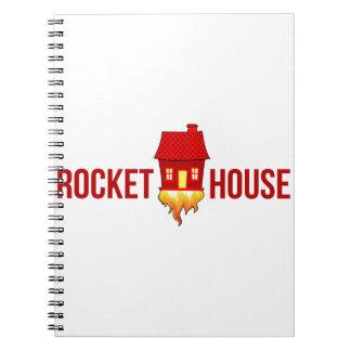 RocketHouse Logo T Spiral Notizblock