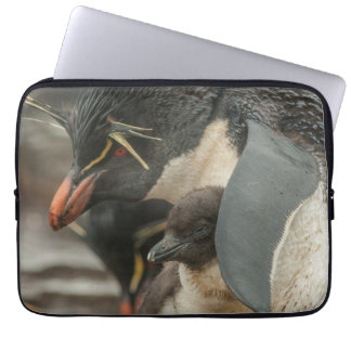 Rockhopper Pinguin und Küken Laptop Sleeve