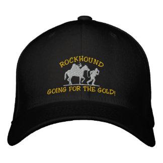 Rockhound, das für das Gold geht! Gestickte Kappe
