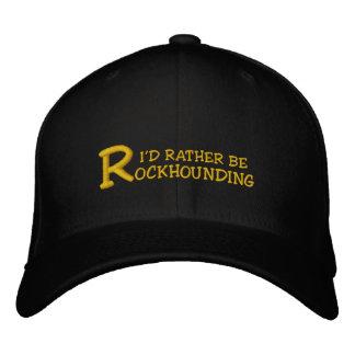 """Rockhound """"ich würde eher gesticktes Rockhounding"""" Bestickte Kappe"""
