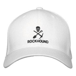 Rockhound Schädel-Kreuz-Schaufel-Hacke gestickt Bestickte Kappe