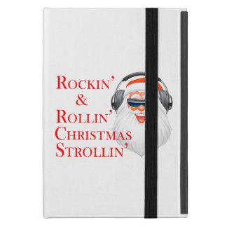 Rockin cooler Weihnachtsmann mit Kopfhörern Schutzhülle Fürs iPad Mini