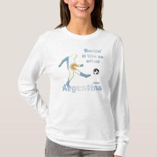 Rockin es Argentinien-Damen-langes Hülsen-Shirt T-Shirt