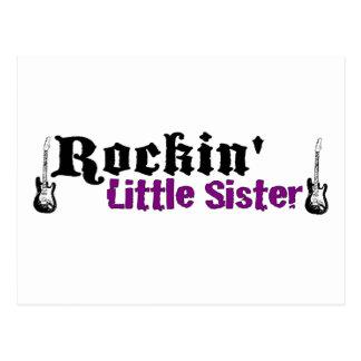Rockin kleine Schwester Postkarte