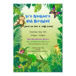 Rockin Regenwald-Geburtstags-Einladung 12,7 X 17,8 Cm Einladungskarte