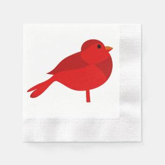 Rockin Robin roter Kardinals-Cartoon Papierservietten