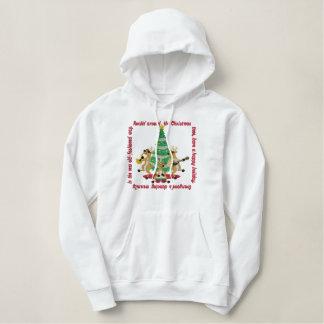 Rockin um den Weihnachtsbaum Bestickter Hoodie