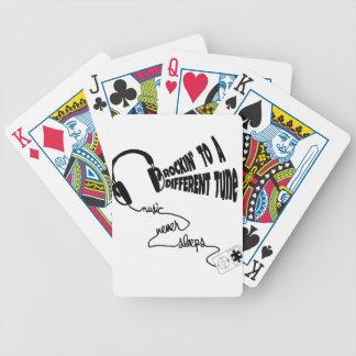 Rockin zu einer anderen Melodie - Musik schläft Bicycle Spielkarten