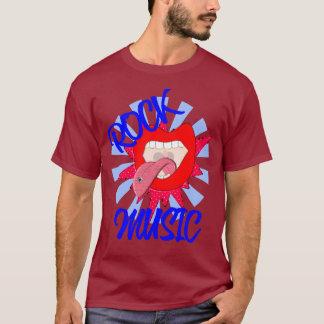 Rockmusik-Liebhaber-flippige große Mund-Lippen T-Shirt
