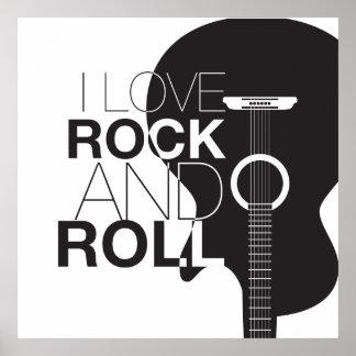 Rockmusik-Plakat Poster