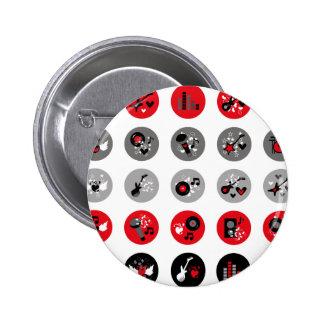 """""""Rockmusik """" Runder Button 5,7 Cm"""