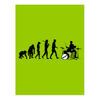 Rockmusik-Schlagzeuger und Jazz Dubstep Trommeln Postkarte