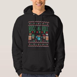 Rock'n'Roll-hässliche Weihnachtsstrickjacke Hoodie