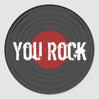 Rock'n'Roll Runder Aufkleber