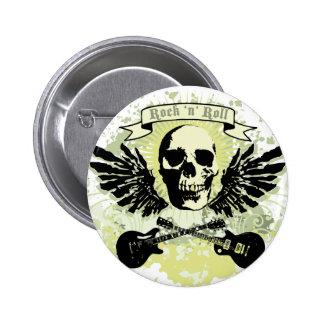 RocknRoll Runder Button 5,1 Cm