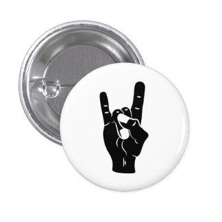 Rock'n'Roll-Teufel-Hörner Runder Button 2,5 Cm