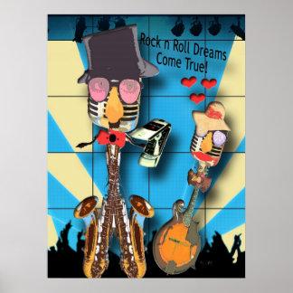 Rock'n'Roll träumt Plakat