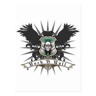 Rock'n'Roll-Wappenkunde Postkarte