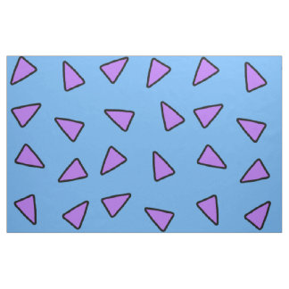 Rocko Art-geometrische Dreiecke blau und lila Stoff