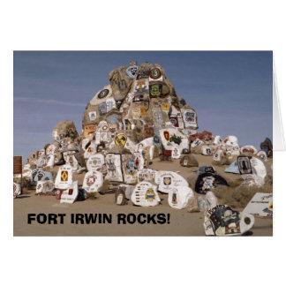 Rockpile, FORT IRWIN FELSEN! Grußkarte
