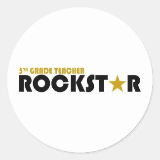 Rockstar - 5. Grad Aufkleber