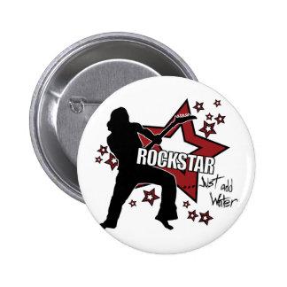 Rockstar: Addieren Sie einfach Wasser Runder Button 5,7 Cm