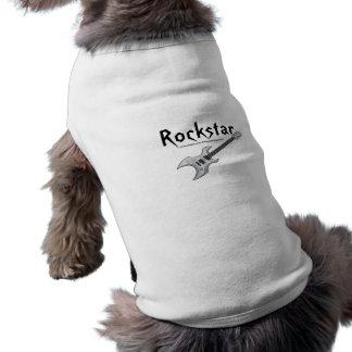 Rockstar Ärmelfreies Hunde-Shirt
