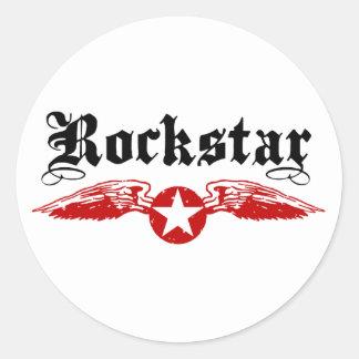 Rockstar Runde Aufkleber