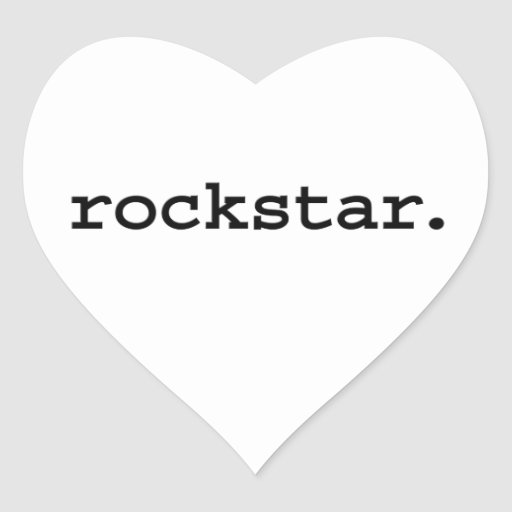 rockstar. aufkleber