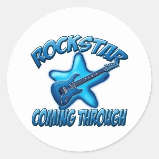 Rockstar Runder Sticker