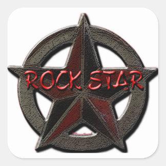 Rockstar Quadrataufkleber