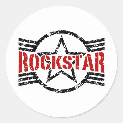 Rockstar Runde Sticker
