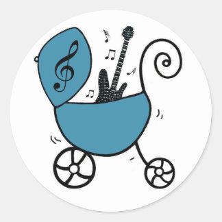 Rockstar-Baby-Aufkleber Runder Aufkleber