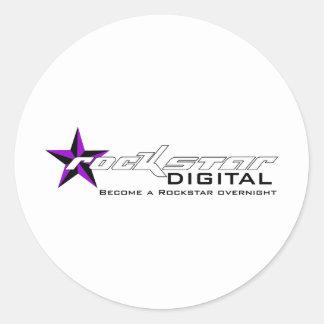 Rockstar Digital Waren Runde Aufkleber