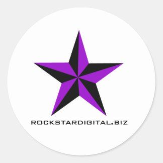 Rockstar Digital Waren Runder Aufkleber