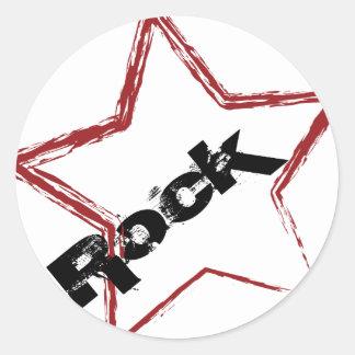 Rockstar Entwurf Runder Sticker