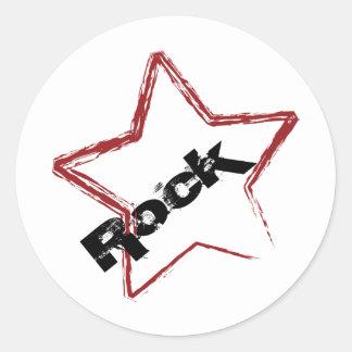 Rockstar Entwurf Runder Aufkleber