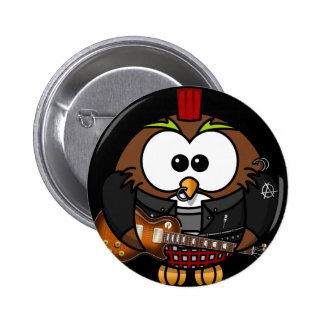 Rockstar Eule Runder Button 5,7 Cm