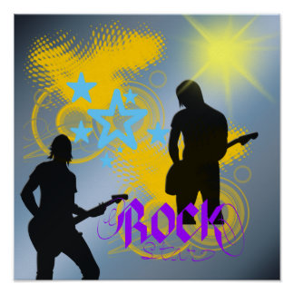 Rockstar-Fantasie-Plakat