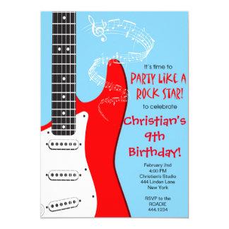 Rockstar-Gitarren-Geburtstags-Einladungen 12,7 X 17,8 Cm Einladungskarte