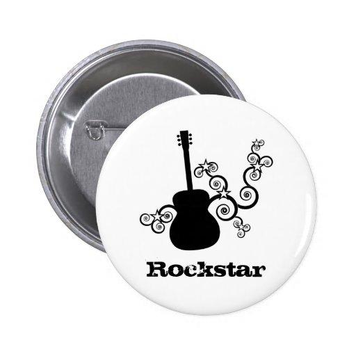 Rockstar Gitarren-Knopf Anstecknadelbuttons