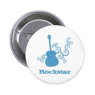 Rockstar Gitarren-Knopf, LightTurquoise2 Buttons