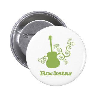Rockstar Gitarren-Knopf, LimeGreen2 Buttons