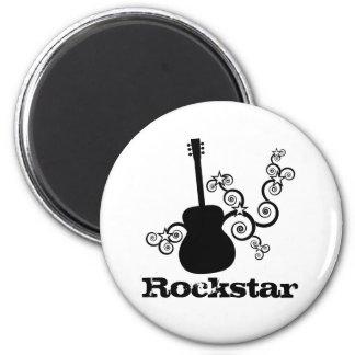 Rockstar Gitarren-Magnet Runder Magnet 5,1 Cm
