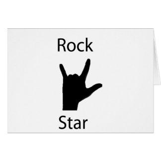 Rockstar Grußkarte