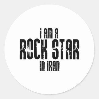 Rockstar im Iran Runder Aufkleber