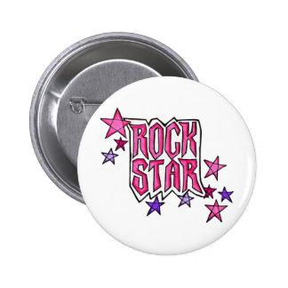 RockStar im Rosa Runder Button 5,7 Cm
