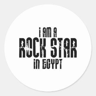 Rockstar in Ägypten Runde Aufkleber