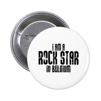 Rockstar in Belgien Runder Button 5,1 Cm
